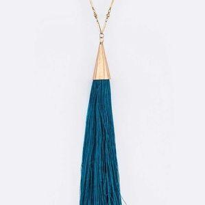 Extra Long Tassel Iconic Pendant Necklace Set